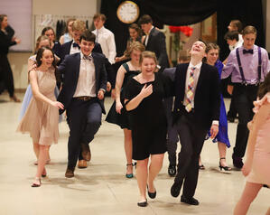 Students Laughing and Dancing