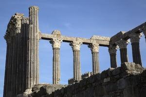 Roman Temple at Evora; Portugal