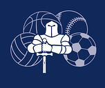 Trinitas booster club - knight with sports balls